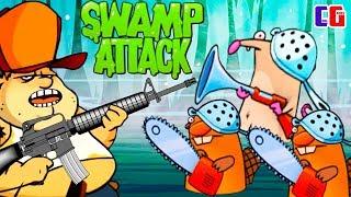 БОБРЫ ДОБРЫ? Новые АТАКИ на БОЛОТЕ в Мультяшной игре Swamp Attack от Cool GAMES
