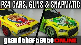 GTA Online | NEW LEAKED PS4 XBOX ONE Cars, Guns & PS4 Snapmatic Photos (GTA 5 Gameplay)