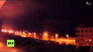 14.01.15. 18:38 Донецк украинские каратели опять накрыли градом жилые районы!!