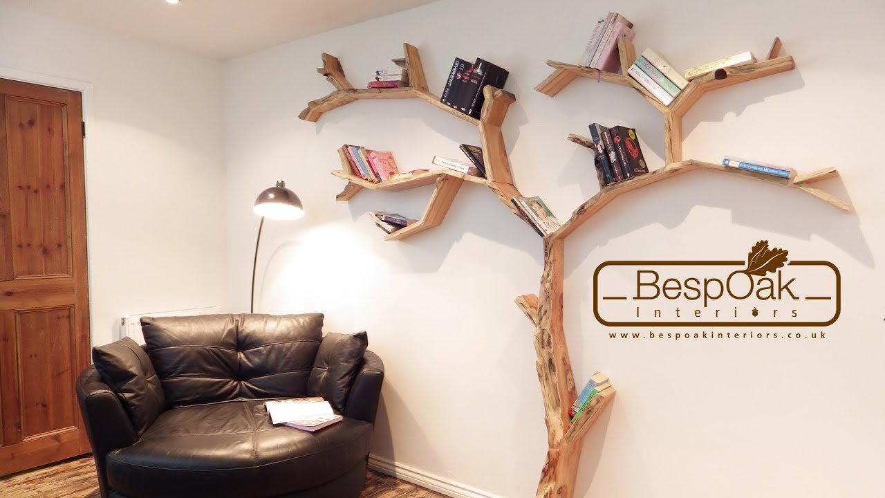 BespOak Interiors Handmade Tree Shelves YouTube - Corner tree bookshelf