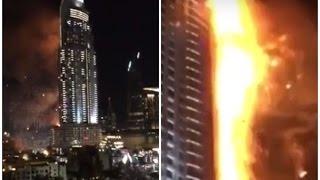 Incendiu de proporţii, de Revelion, la un hotel de cinci stele din Dubai.