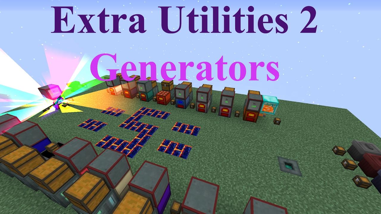 Extra Utilities 2 Generators Spotlight Update 6 17 Minecraft 1 10