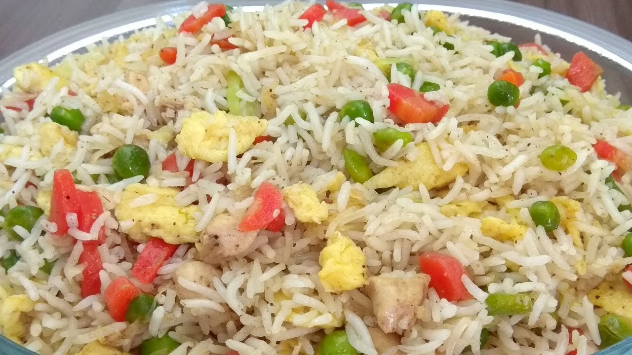 Chicken Fried Rice Recipe Chinese Fried Rice Recipe In Urdu Youtube