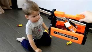 Обзор Набор инструментов детский Для мальчиков Ящик Разборный Эндрю Тайм