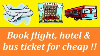 How Book Flight El And Bus Tickets Online