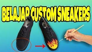Belajar Custom sepatu VANS authentic