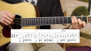 You Are My Sunshine Advanced Guitar Lesson - Cross-picking