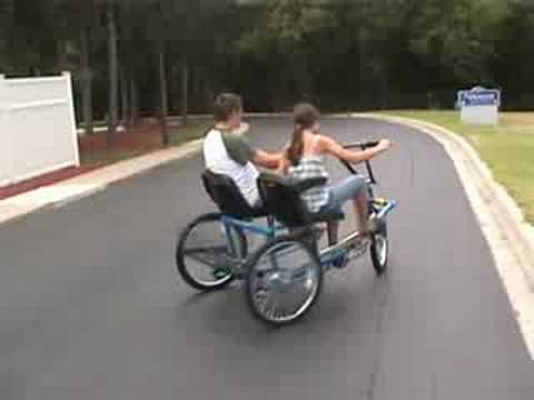 Team dual trike, is a side by side, three wheel tricycle