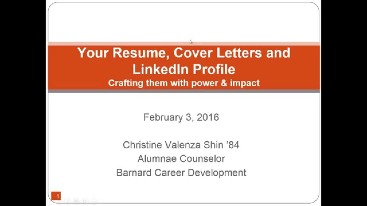 2016 02 03 12 00 your resume cover letters and linkedin profile 2016 02 03 12 00 your resume cover letters and linkedin profile crafting them power and impa