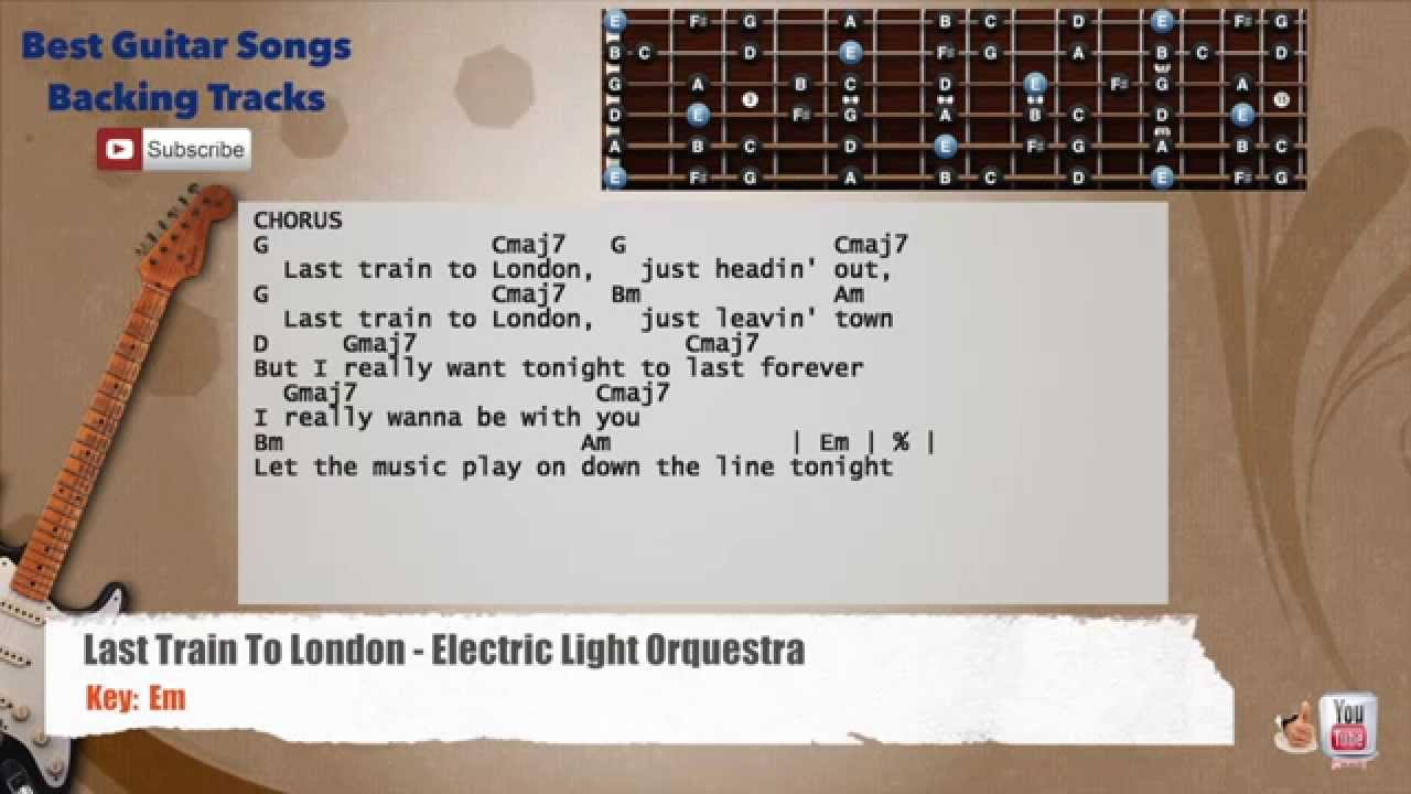 Last Train To London Electric Light Orquestra Guitar Backing Track