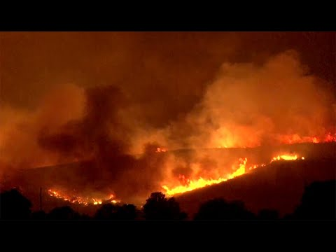Raw Video: Lake County Wildfire