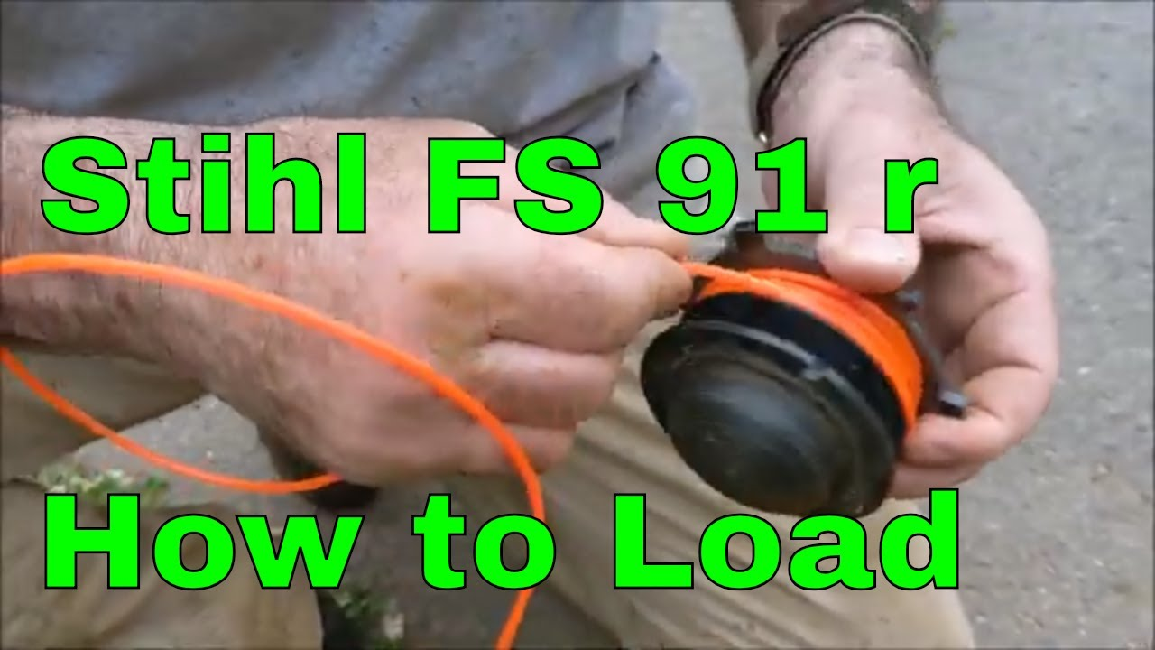 Stihl Fs91 R Weed Eater How To Load String Youtube