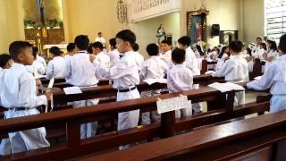Cherished Moments School CMS ,First Holy Communion Lighting of the candle