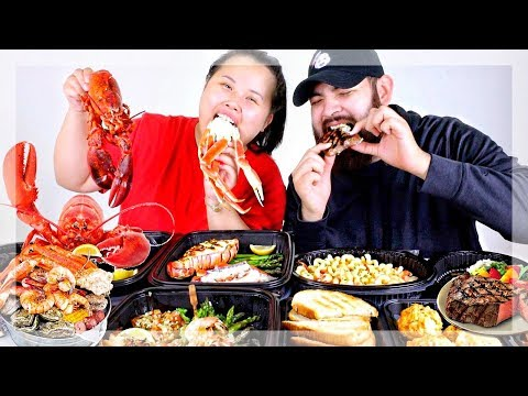 RED LOBSTER MUKBANG 먹방 SEAFOOD FEAST! (EATING SHOW)