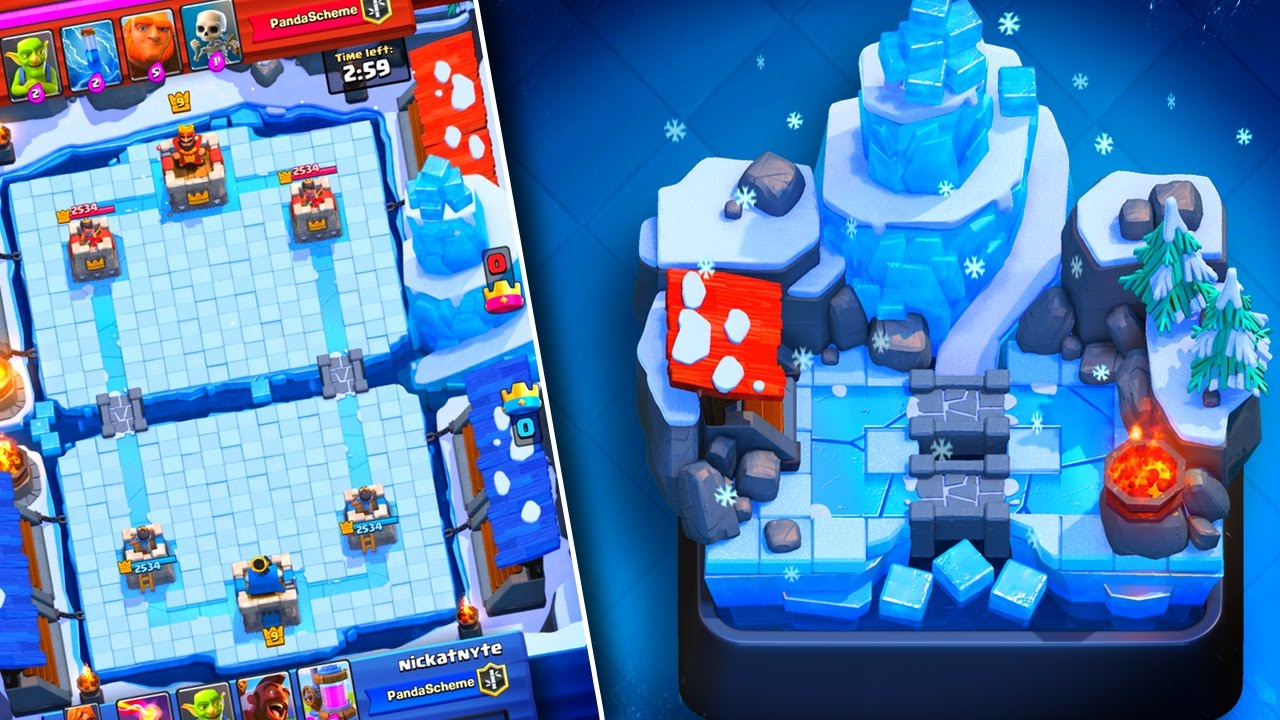NEW ARENA!! Clash Royale NEW FROZEN PEAK ARENA 8 FIRST LOOK ...