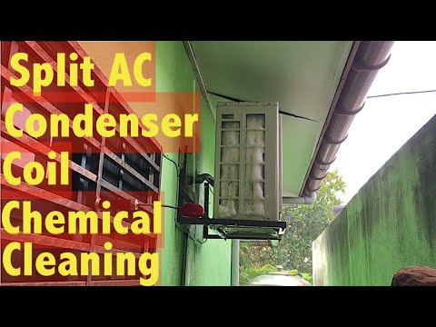 Aircond York split unit chemical cleaning (Outdoor Condenser Unit) service part 1