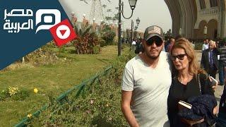 مصر العربية | يسرا تشيع جثمان رأفت الهجان