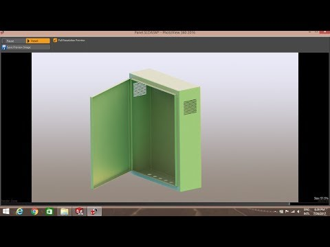 SOLIDWORKS Sheet metal Tutorial | How to make electric control panel by using sheet metal PART 1