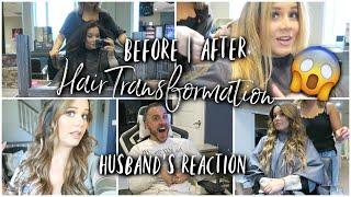 MY HAIR TRANSFORMATION + Husbands Reaction!!