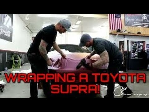 Vinyl Wrapping A Toyota Supra Front Bumper In My New Color!