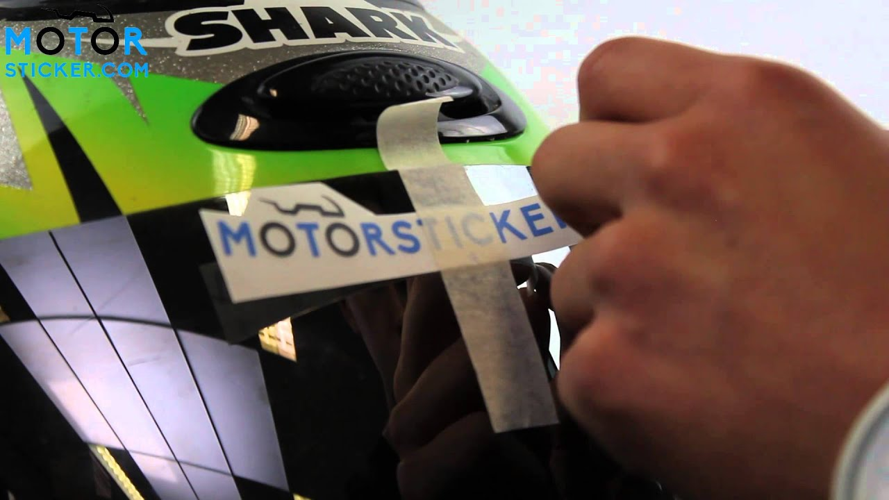Custom sticker visor instruction video motorsticker com