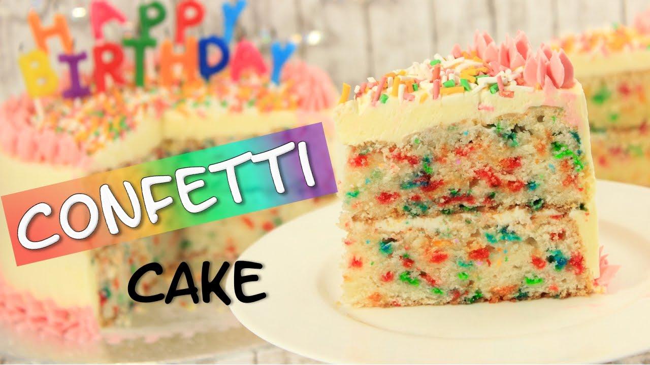 Confetti Cake I Konfetti Kuchen Youtube