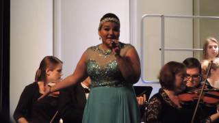 "Cassi Torres McNabb performing ""Let it Go"" at Symphony By the Sea in Rockport, Texas, 12/11/16."