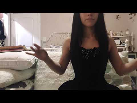 ASMR Visual W/ Lavender Silk Gloves SOFT TOUCHING