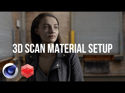 Setup 3D Human Scans | Cinema 4D Physical and Redshift