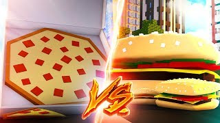 Pizza Haus VS. Burger Haus! (Minecraft)