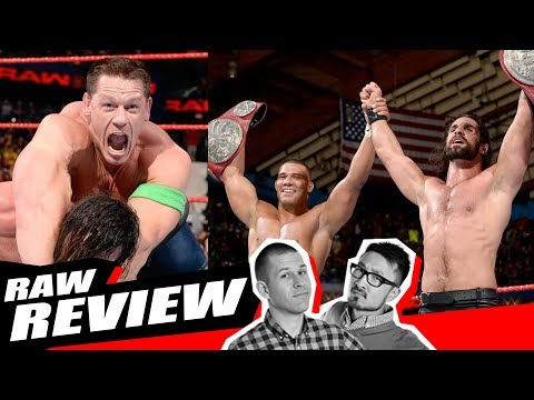 RAW REVIEW 12/25/17: Rollins & Jordan Win Tag Titles, Cena Returns, Commercial Free
