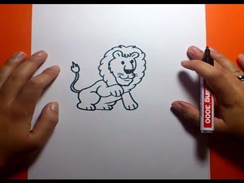 Como dibujar un leon paso a paso 3  How to draw a lion 3  YouTube