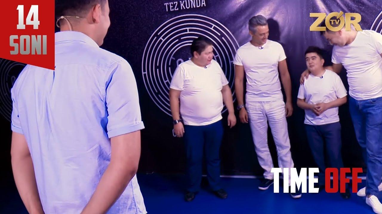 Time OFF 14-soni - Dilshodbek Kattabekov, Zokir Abdukarimov, Shuhrat Nuraliyev, Aziz Rajabiy