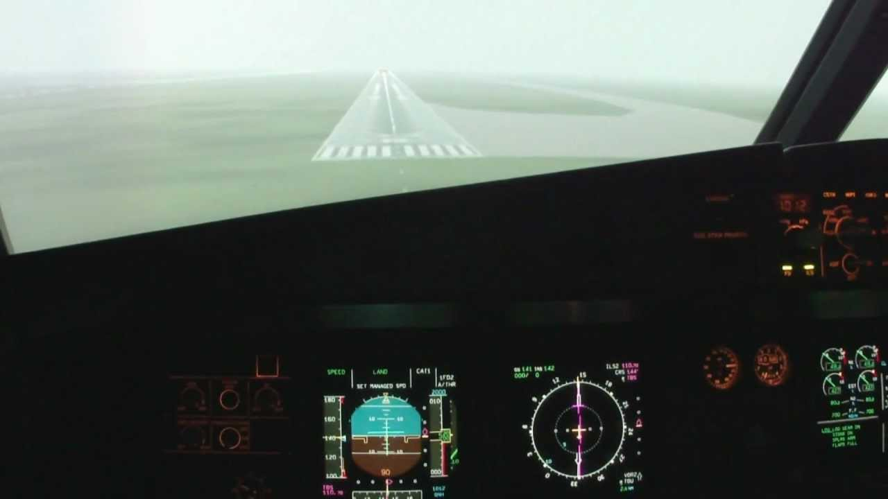 Flying the A320 Fixed Base simulator - IACE France 2011