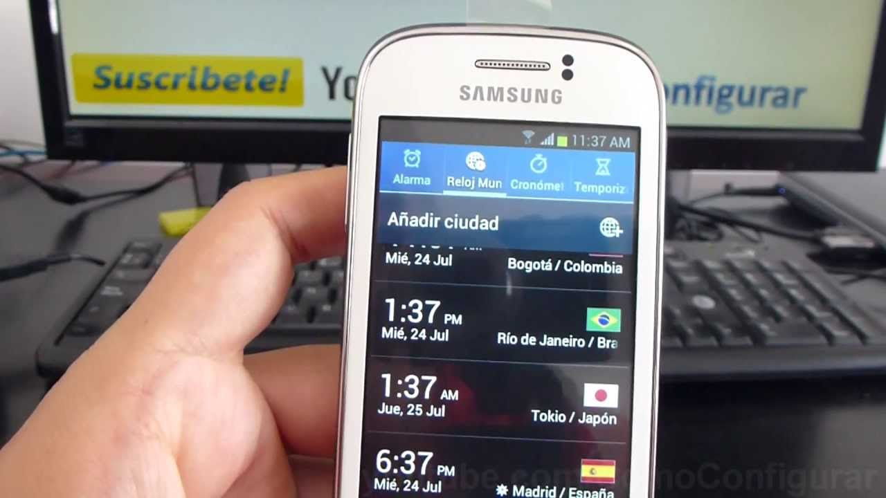 que hora es en madrid en samsung galaxy Young gt s6310 español Video Full HD
