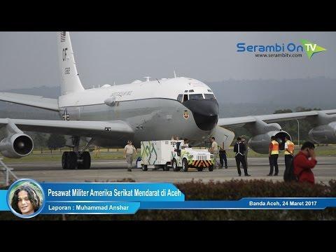 Pesawat Militer Amerika Serikat Mendarat di Aceh