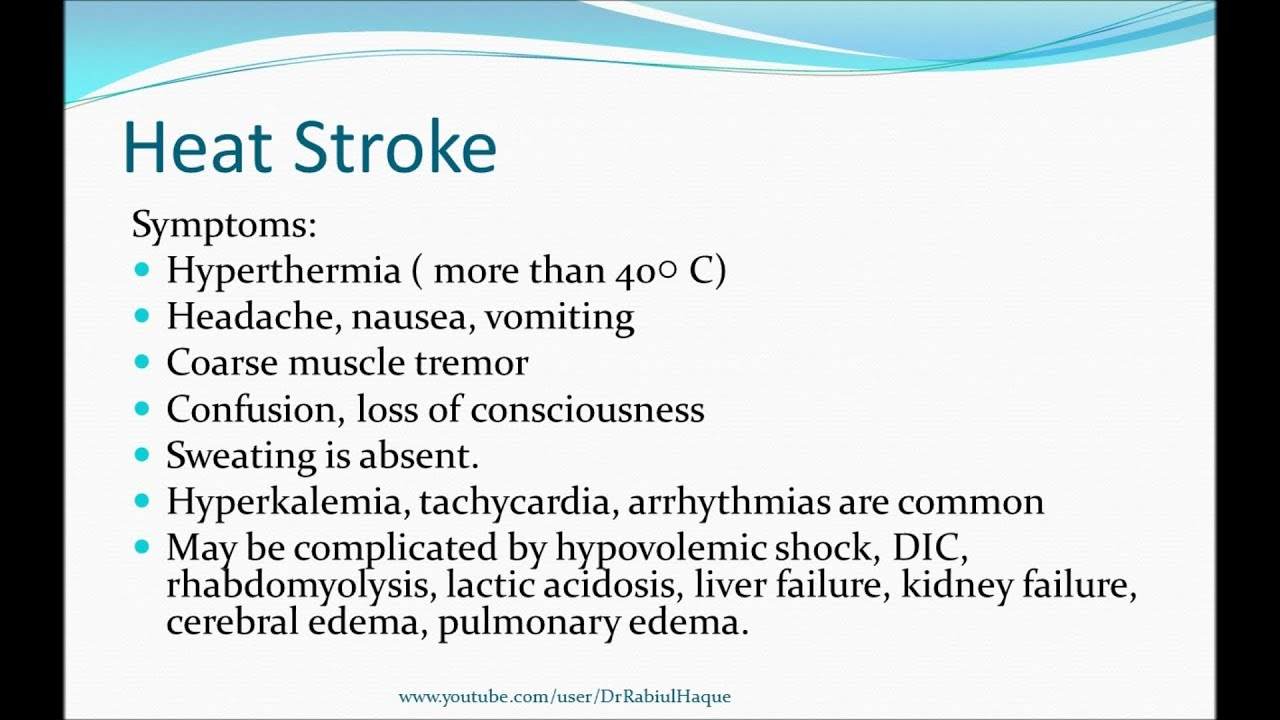 stroke symptoms youtube  Hyperthermia (HD) - YouTube