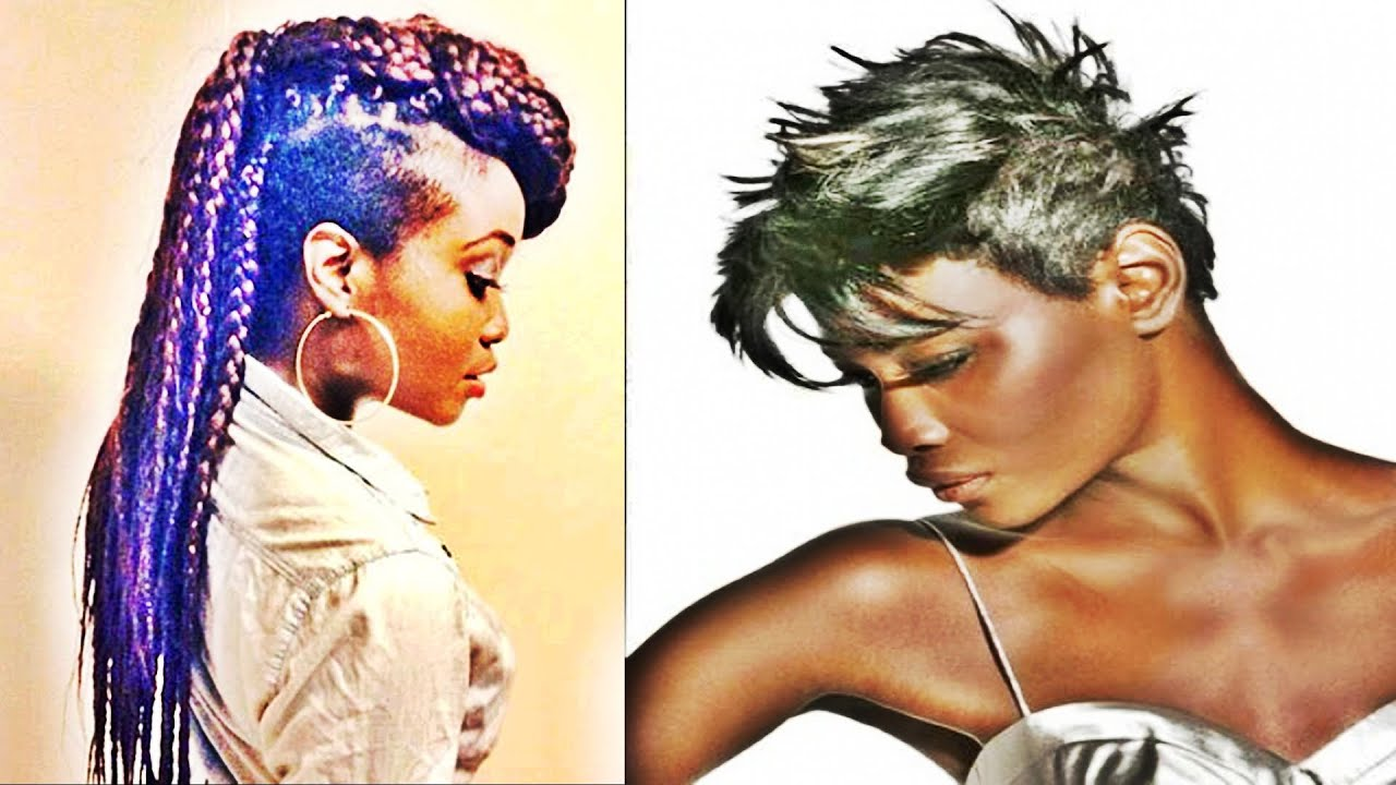 Short Mohawk Hairstyles For Black Women Youtube