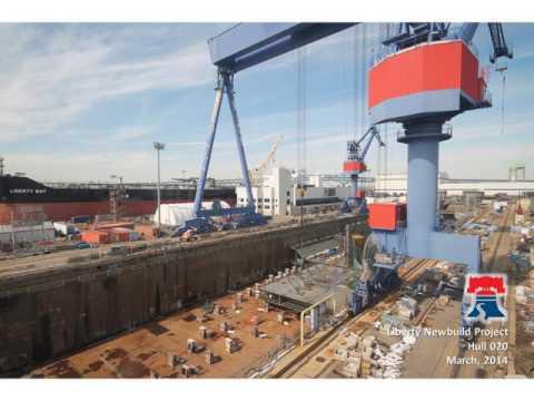 Aker Philadelphia Liberty Class Ships - Time Lapse Video