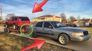 COULD A RETIRED POLICE CAR TOW A JEEP AND TRAILER????