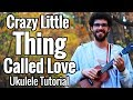 Queen - Crazy Little Thing Called Love - Ukulele Tutorial With Chords, Solo & Play Along