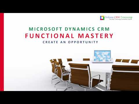 Microsoft Dynamics CRM 2016 Online Opportunity Management Training Video