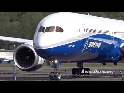 1st Capture Boeing 787-10 Dreamliner Landing @ KBFI Boeing Field