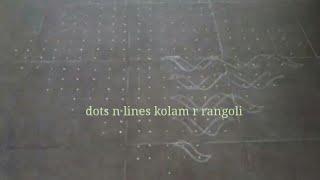 23 dots muggulu | kambi/ sikku /neli kolam| traditional South India dot rangoli artworks pulli kolam