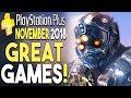 PS+ NOVEMBER 2018 - GREAT Games! (PlayStation Plus FREE Games November 2018)