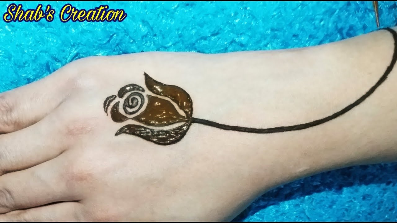 Most Easy Rose Henna Design Latest Simple Rose Mehndi Design