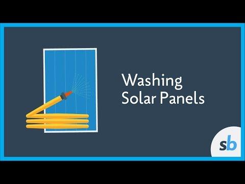 Washing Solar Panels - A Google Study