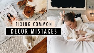 Fixing 5 Common DECOR MISTAKES // Bedroom, Living Room, Entryway & Office Updates