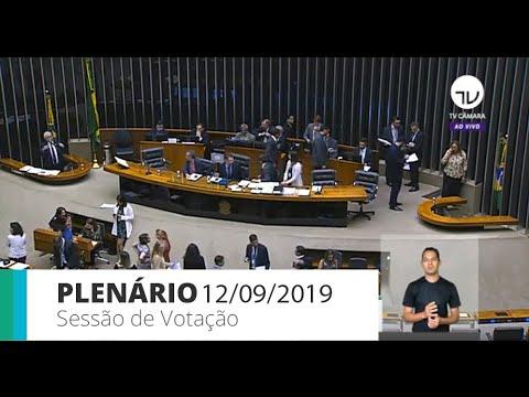 Plenário - Votação de propostas legislativas - 12/09/19
