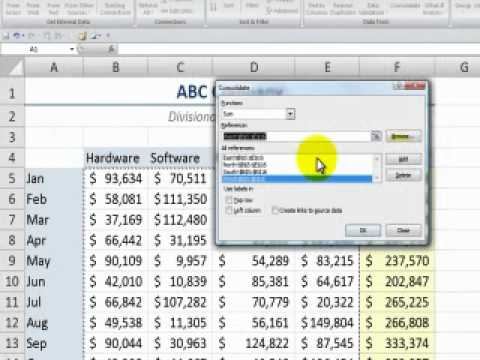Consolidating Data from Multiple Excel Worksheets By Position - YouTube